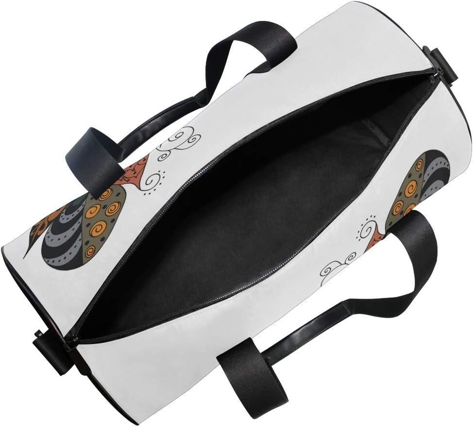 MALPLENA Unique Feather Drum gym duffel bag women Travel Bag