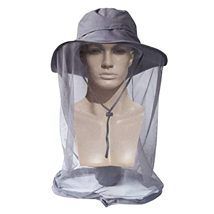 9edd1045 AYAMAYA Mosquito Head Net Hat for Men Women, Wide Brim Sun Protection Hats  with Face