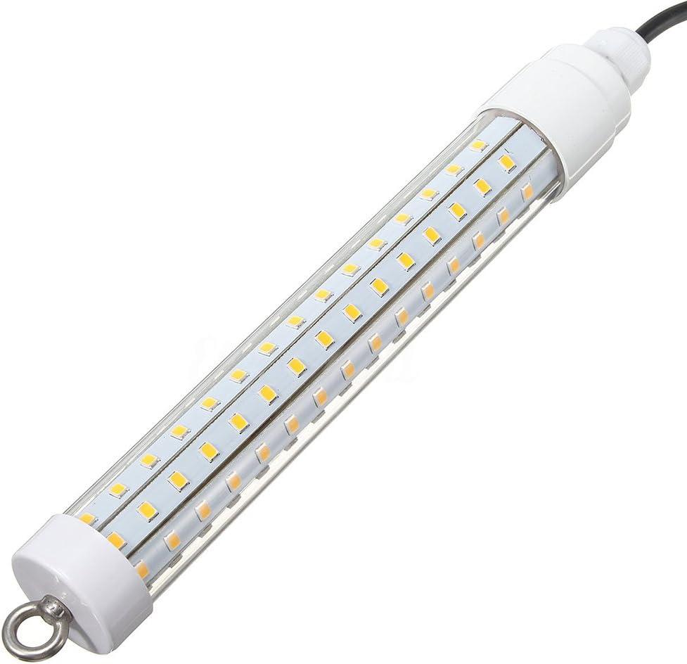 ZZM LED de Pesca Lure Bait Luz Lámpara Subacuática Buscador de Peces con 120 SMD2835 LED Focos Cable de 6M