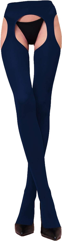 Sexy chaud opaque /él/égant WOOTI Collant porte-jarretelles incorpor/é MESSICANA 100 den doux in microfibre r/ésistant confortable