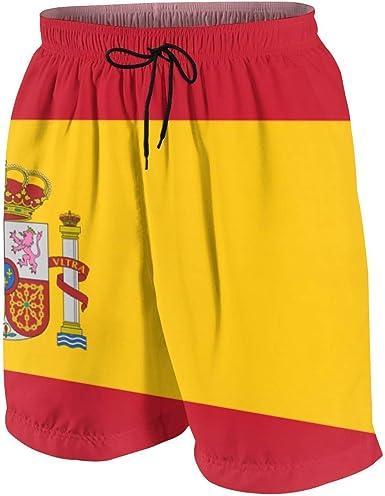 DCVFB España Bandera Pantalones Cortos de Playa para Adolescentes Pantalones Cortos Deportivos para niñas y niños con cordón: Amazon.es: Ropa y accesorios