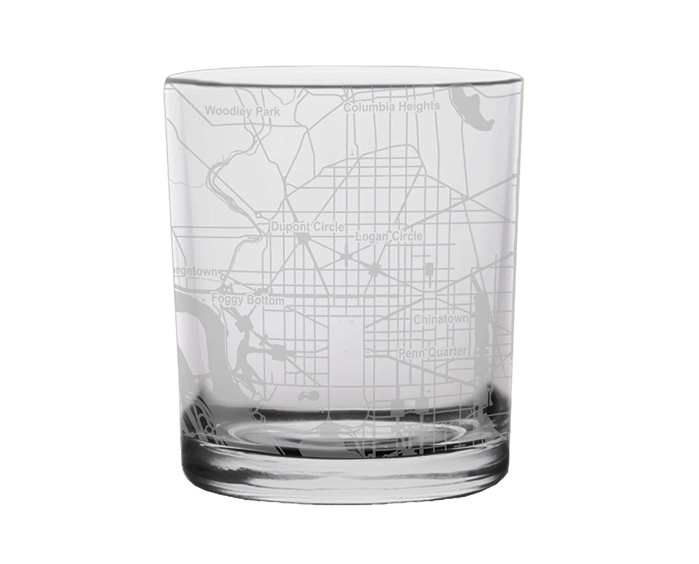 Amazon com: Washington City Map Whiskey Glass District of
