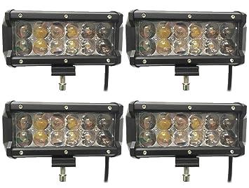 Leetop 2X 72W 4D LED Arbeitsscheinwerfer R/ückfahrscheinwerfer Auto Beleuchtung