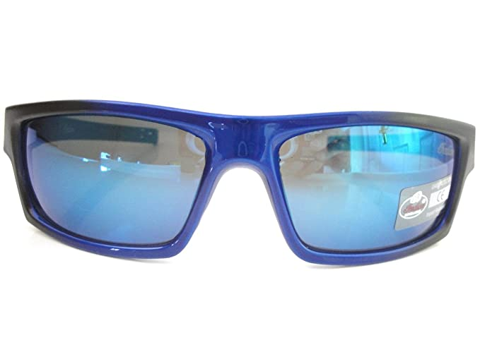 Indian Sonnenbrille Herren Kunststoff Rundumverstärkung schwarz & blau Rahmen quadratisch Revo Blau Objektiv Styling b33IQ