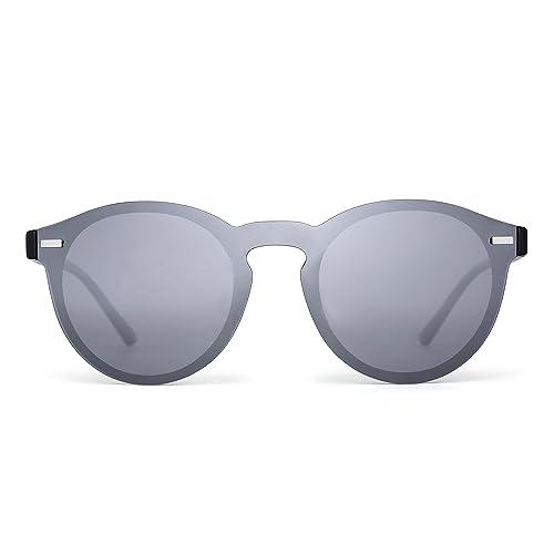Gafas de Sol Polarizadas Sin Marco Club Redondas Sin Montura Espejo Reflexivo Wayfarer