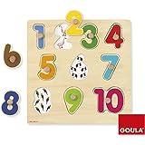 Goula Puzzle números, piezas de madera (Diset 53074)