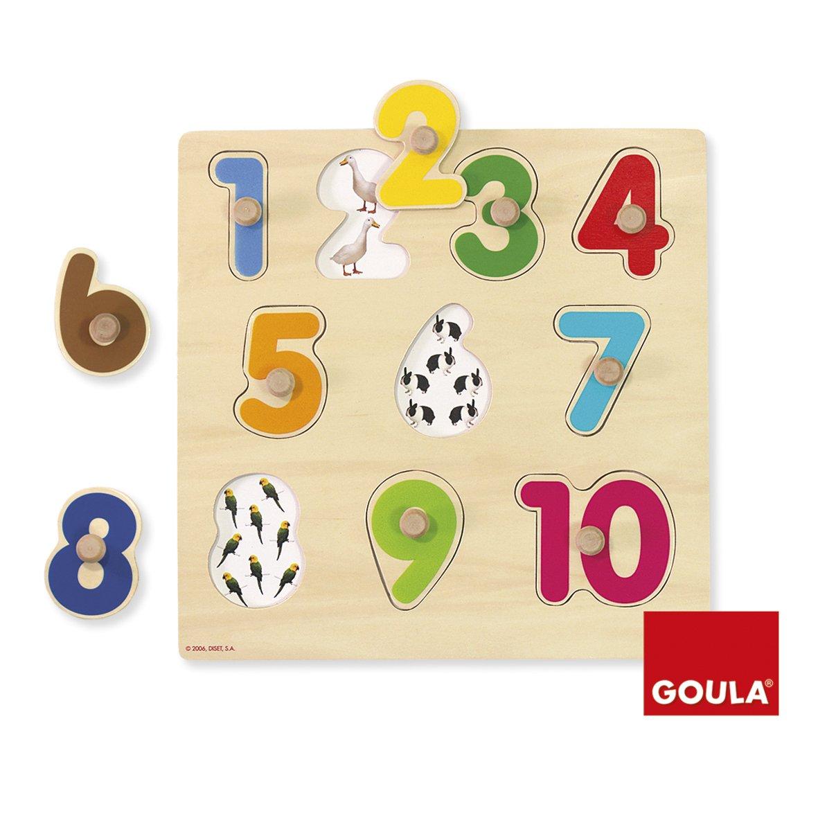 Goula Numbers Puzzle Encajes Madera números Goula28x28 Diset 53074 product image