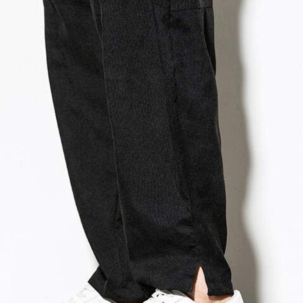 Pantalones de Hombre Pantalones de Pierna Ancha Color Liso Pantalones de Playa Sueltos de Gran tama/ño Pana Pantalones de///Resistencia/Casuales con/cord/ón