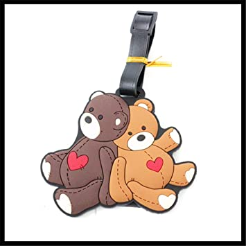 48c98ae9b122 Cute Silicone Characters/Animals/Pirate Ship Luggage Tags/ID for travel and  school (Bears)