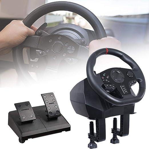 Game Racing Wheel - Volante ajustable V900 con pedal y paletas de cambio de marchas para Nintendo Switch PC / PS3 / 4 / Xbox One: Amazon.es: Hogar