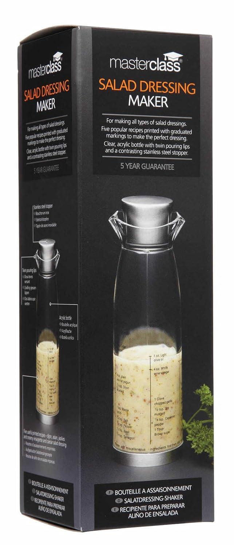 MasterClass Acrylic Salad Dressing Shaker Bottle, 19.5 cm (8