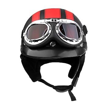 Sharplace Casco con Visera Seguridad Hombre Moto Suave Confortable Accesorio Ciclismo - Rojo negro: Amazon.es: Juguetes y juegos