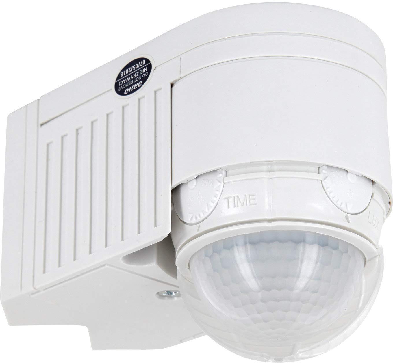 Aufputz esquina infrarrojos Detector de movimiento IP44 360 ° 230 V - con sensor de oscuridad - para exterior para entornos húmedos - 3 in1 montaje - LED ...