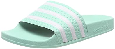adidas Damen Adilette W Fitnessschuhe, vert Turquoise/Blanc: Amazon ...