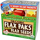 Carrington Farms, Organic Flax Paks, Milled Flax Seeds, 12 Packs, .4 oz (12 g) Each