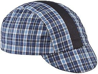 product image for Walz Caps Blue/Black/Black Stripe 3-Panel Plaid Cycling Cap