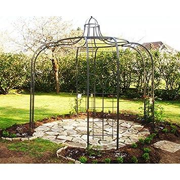 Gloriette Princess Small cenador en hierro forjado pérgola de jardín refugio redondo de acero pintura epoxy