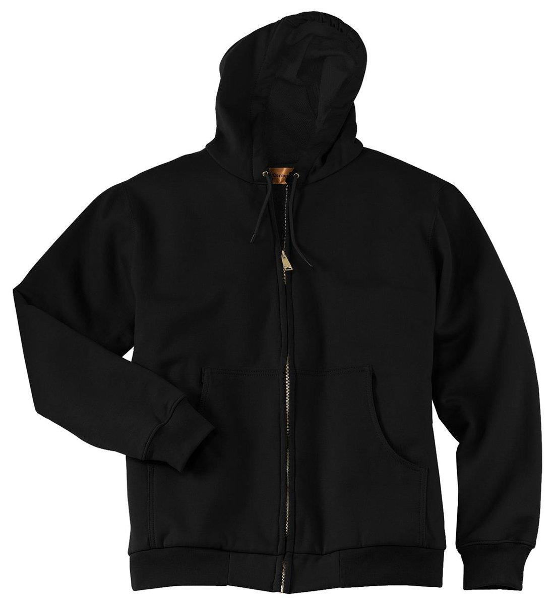 CornerStone - Heavyweight Full Zip Hooded Sweatshirt with Thermal Lining. CS620 - XXXXX-Large - Black