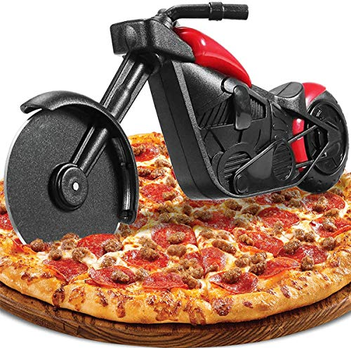 OLT-EU Pizzasnijder, Motorfiets vorm Pizzasnijder, Creatief Pizzaroller Pizzames, Roestvrijstalen Deeg Pizza Cutter…
