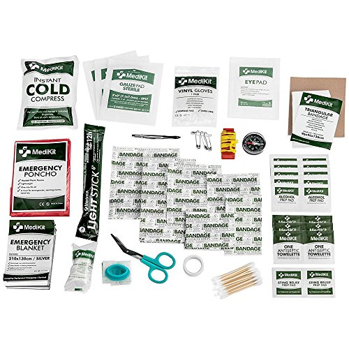 MediKit Deluxe First Aid Kit (115 Items) The Most Essential First Aid Supplies for Home, Sports, Travel, Camping, Office and The Workplace ... (Green)