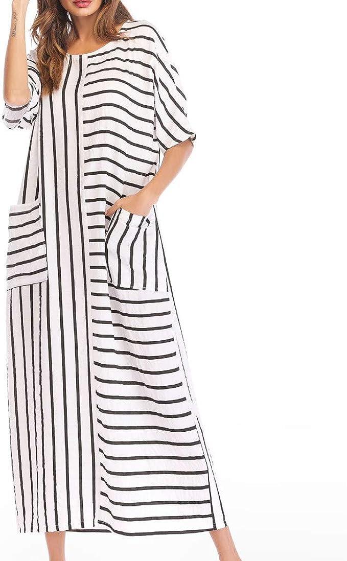 Geilisungren Vestidos De Fiesta Mujer Largos Cuello Redondo ...
