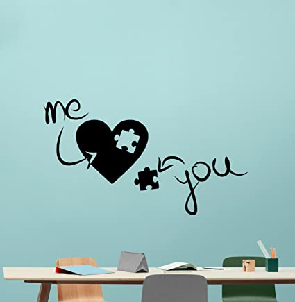 ad4d46336781 Heart Family Wall Decal You Part Of Me Puzzle Man Woman Love ...