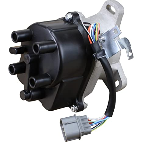 AIP Electronics Complete Premium Electronic Ignition Distributor Compatible Replacement For 1998-2002 Honda and Acura 1.5L 1.6L Excluding Hx Si With Tec Distributor TD-63U TD-73U OBD2B Oem Fit DTD63