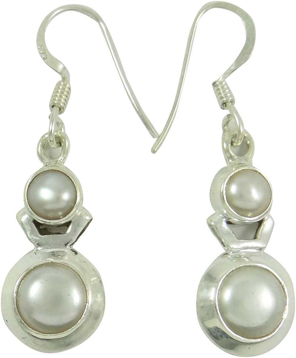preciouse perla pendientes de piedras preciosas 925 regalo semi joyas de plata para ella
