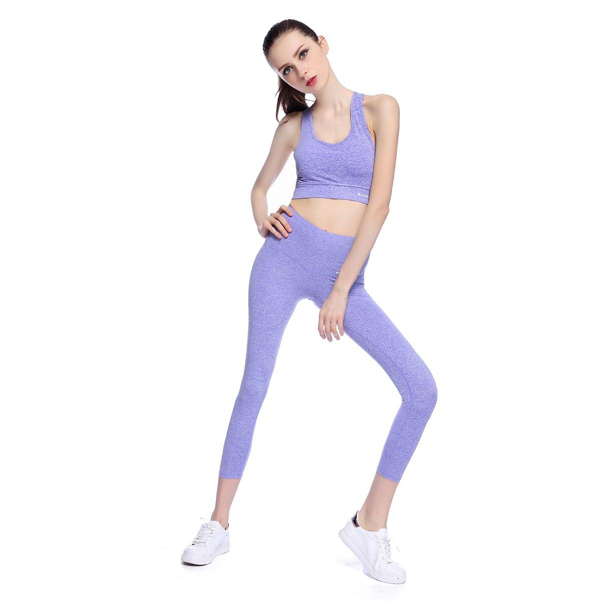 Bonjanvye Yoga Clothes for Women Set Activewear Jacket with ...