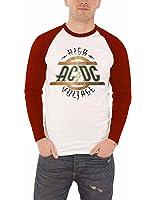 AC/DC High Voltage Herren Nue Weiß Long Sleeve Baseball T shirt all sizes