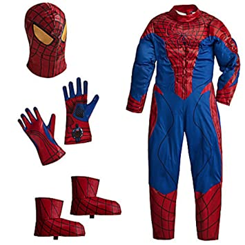 Disney Deluxe Amazing Spiderman Spider Man Costume For Boys Toddlers  Avengers Marvel (Xxs 2