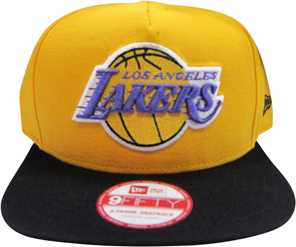 Amazon Com New Era Los Angeles Lakers Gold Black Two Tone Snapback Adjustable Plastic Hat Cap Clothing