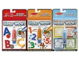 Melissa & Doug On The Go Water Wow Bundle Alphabet, Numbers and Colors & Shapes