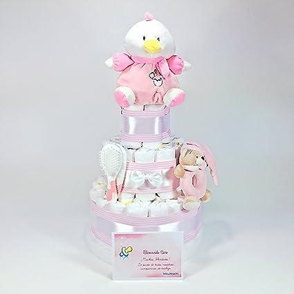 Tarta de Pañales Excelent Bebé Recien Nacido Telechupete Rosa ...