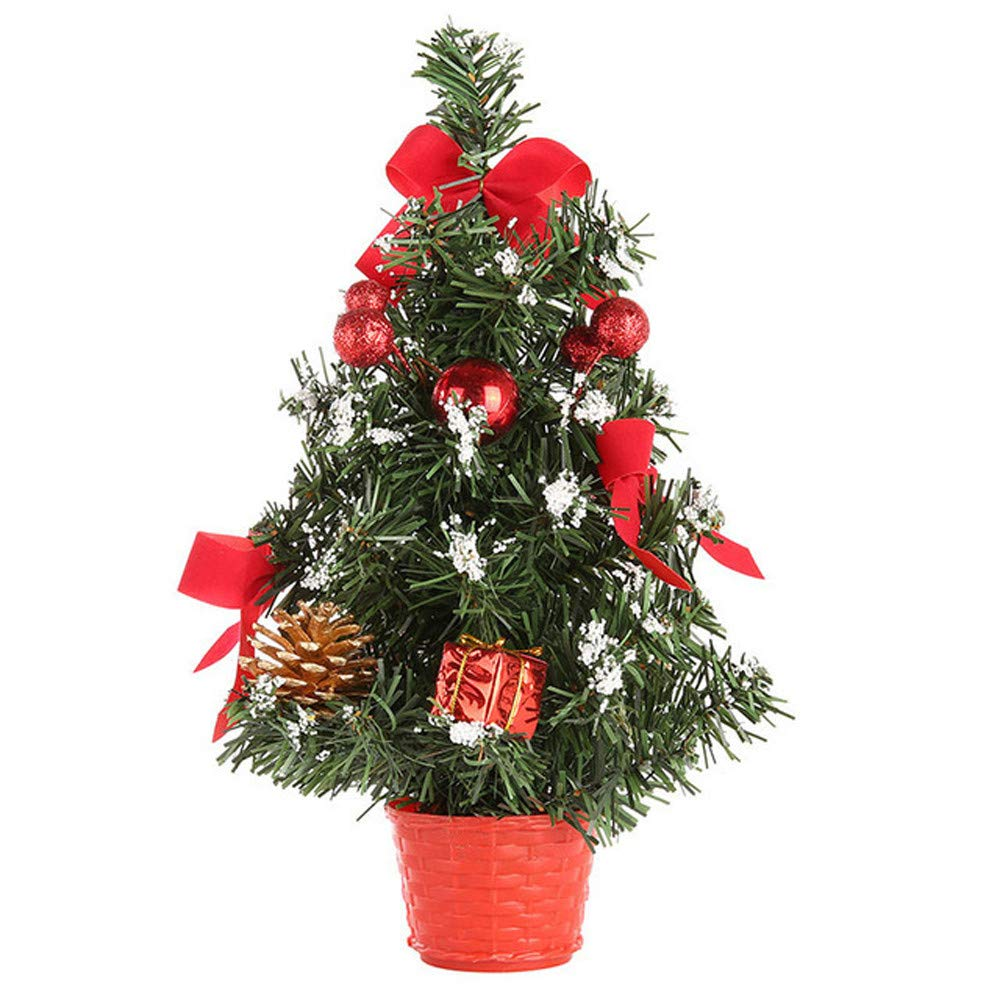 Christmas Decorations IEason Artificial Tabletop Mini Christmas Tree Decorations Festival Miniature Tree 30cm (Red)