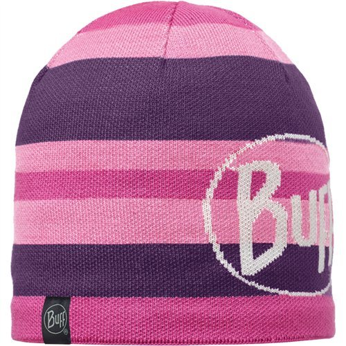 Buff Knitted & Polar Hat Ovel Plum, One Size