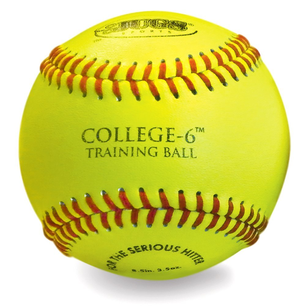 Jugs college-6練習ボール: Optic yellow-1ダース B01GVV0S5I