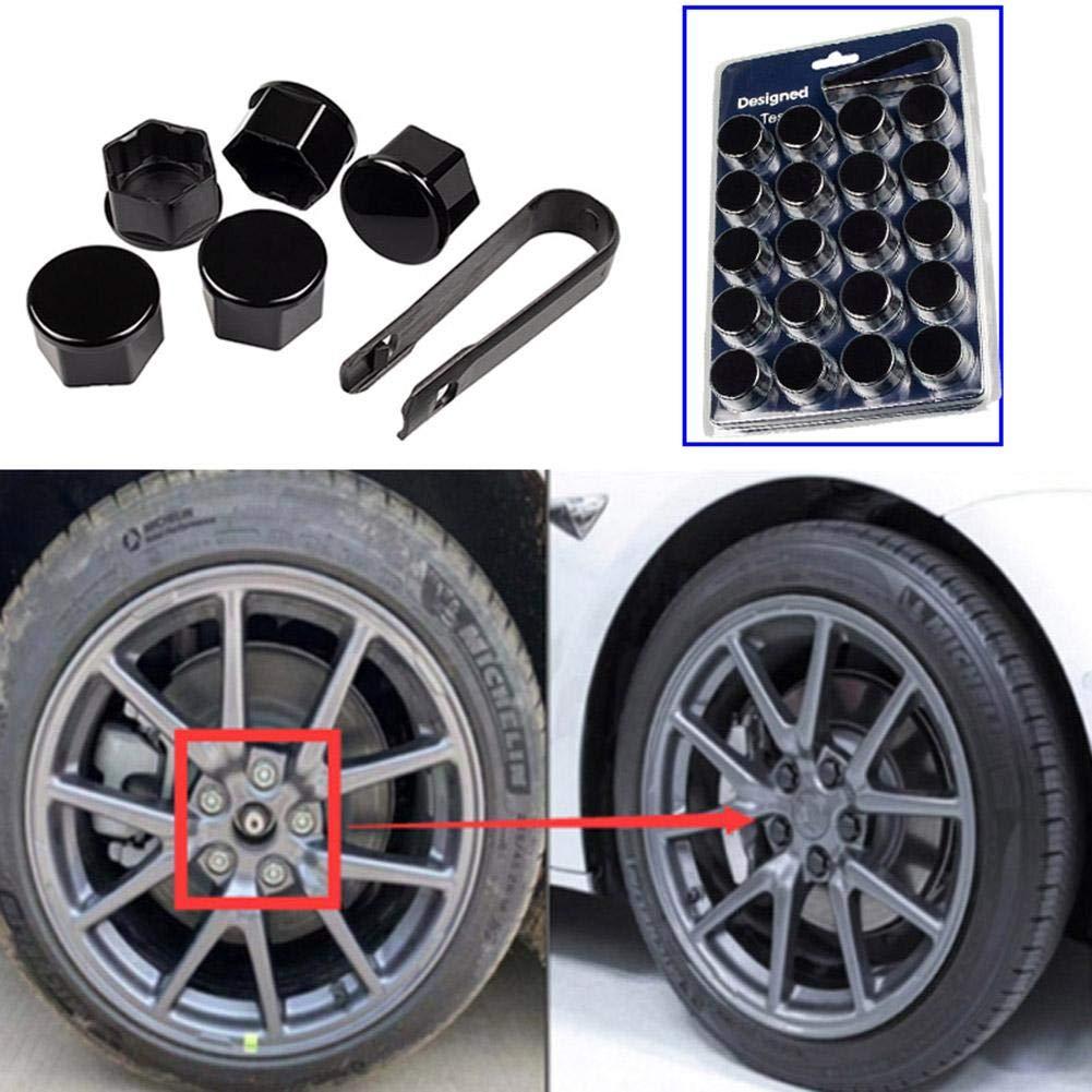 20Pcs 17mm plastique blanc cache vis écrou roue outil dépose voiture