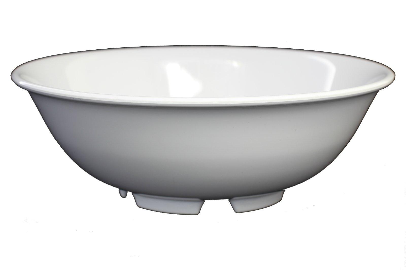 Z-Moments Western Melamine Rimless Bowl Menudo Bowl, 52-Ounce, 8-3/4'' dia., White or Tan NSF #5075 (48, White)