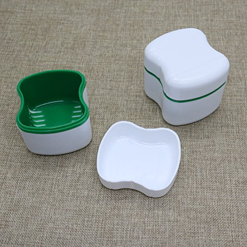 2PCS Travel Denture Case for Safe Guard Dentures and Valuables, Easy To Open, Store and Retrieve