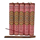 Premium Rose Incense Sticks 5 Set Gift Pack with