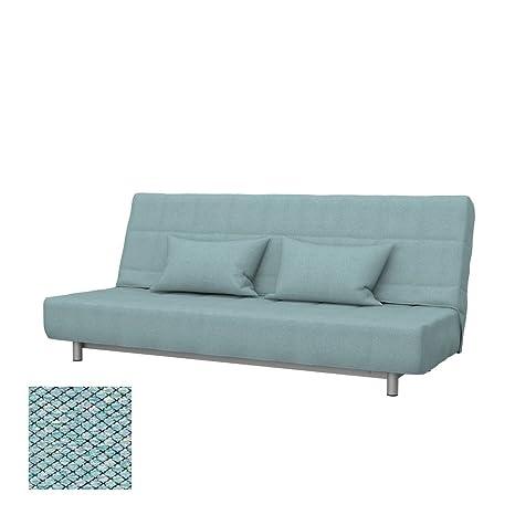 Soferia Replacement Cover for IKEA BEDDINGE 3-seat Sofa-Bed, Fabric Nordic Sea Green