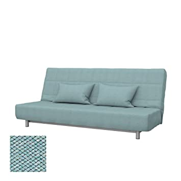 Soferia Replacement Cover for IKEA BEDDINGE 3-seat Sofa-Bed, Fabric Nordic Sea Green