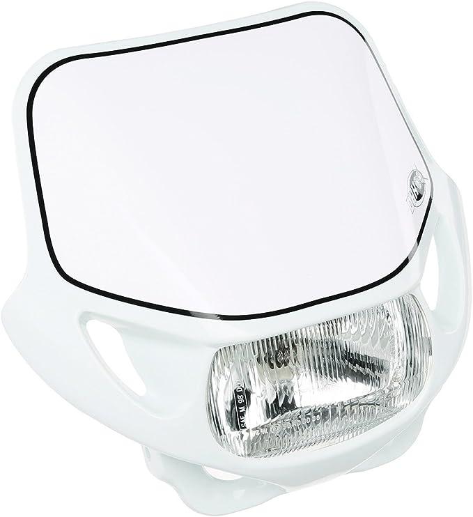 /12/V 35//35/W /Bianco/ .050sc/ con luce di posizione /Per SIMSON .050ts Acerbis mascherina faro con faro/