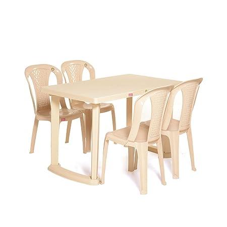 Vermora 1 + 4 Dinning Table Set Relish (Beige)