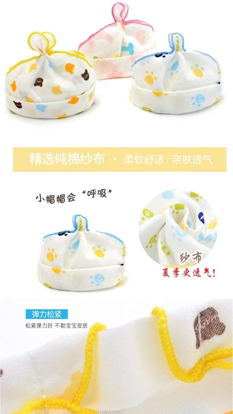 xia jiqiu Baby Hats Baby Summer Hat Cap 0 Males 3 Women Girls 6-12 Months Newborn fetal Cotton Gauze Empty top