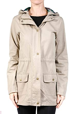 b38a6c7936 2LUV Plus Women s Plus Size Plaid Hooded Drawstring Waist Utility Jacket  Khaki 1X at Amazon Women s Clothing store