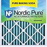 "Nordic Pure 18x18x2 Pure Baking Soda Odor Deodorizing AC Furnace Air Filters 18"" x 18"" x 2"" 3"