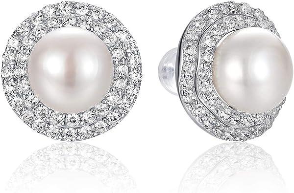 7-8mm Pearl Earrings Silver 925 Jewelry Tassel Pearl Studs Earrings For Women Gift