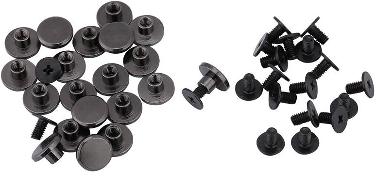 LEDER Nieten Basteln 100 Stück Hohlnieten SCHWARZ Ziernieten schwarze Nieten